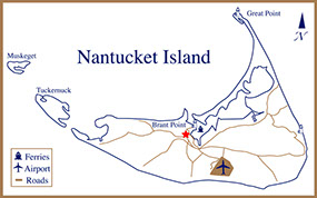Map of Nantucket Island View